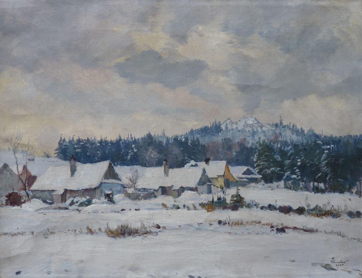 Chaloupky v zimě