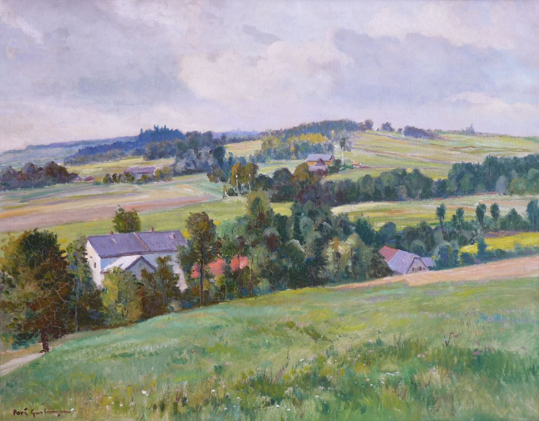 Krajina s vesničkou