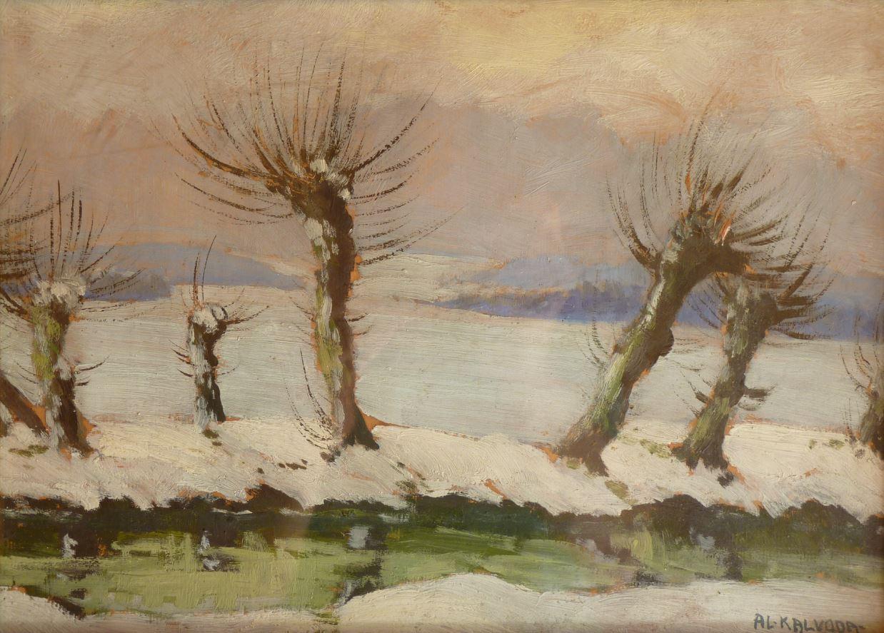 Vrby v zimě