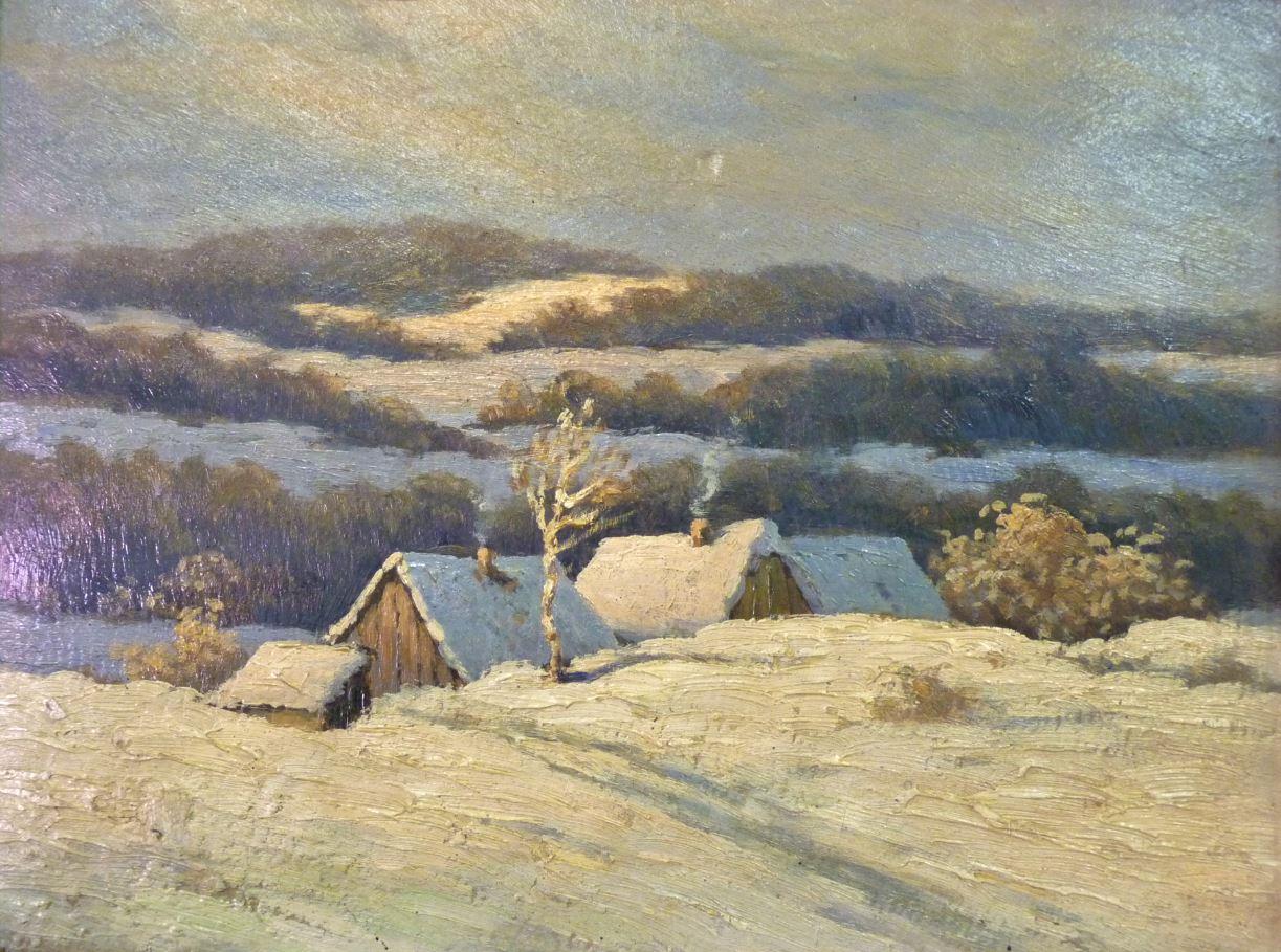 Chalupy v zimě
