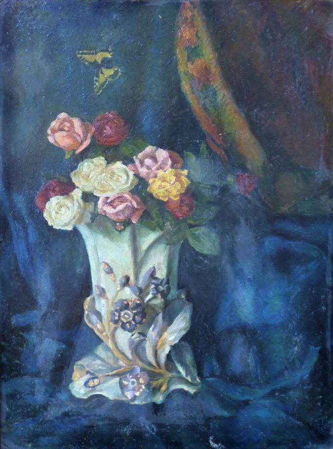 Růže s motýlem