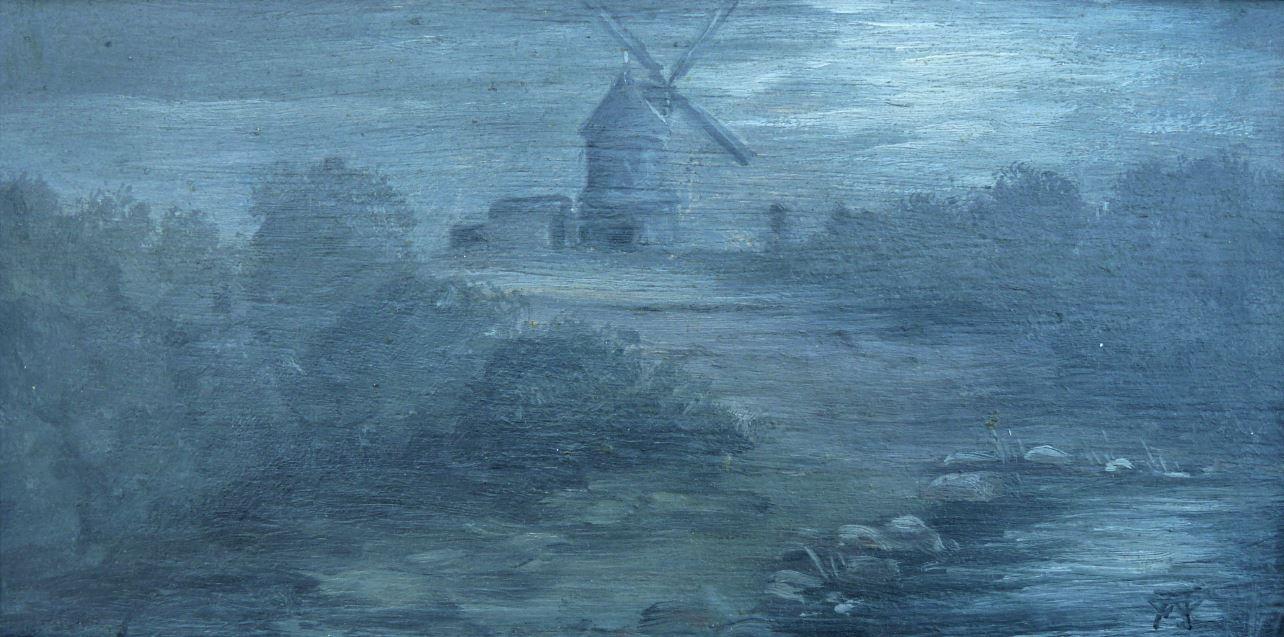 Větrník u Štrampouchu v noci