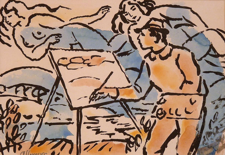 Malíř s Múzami