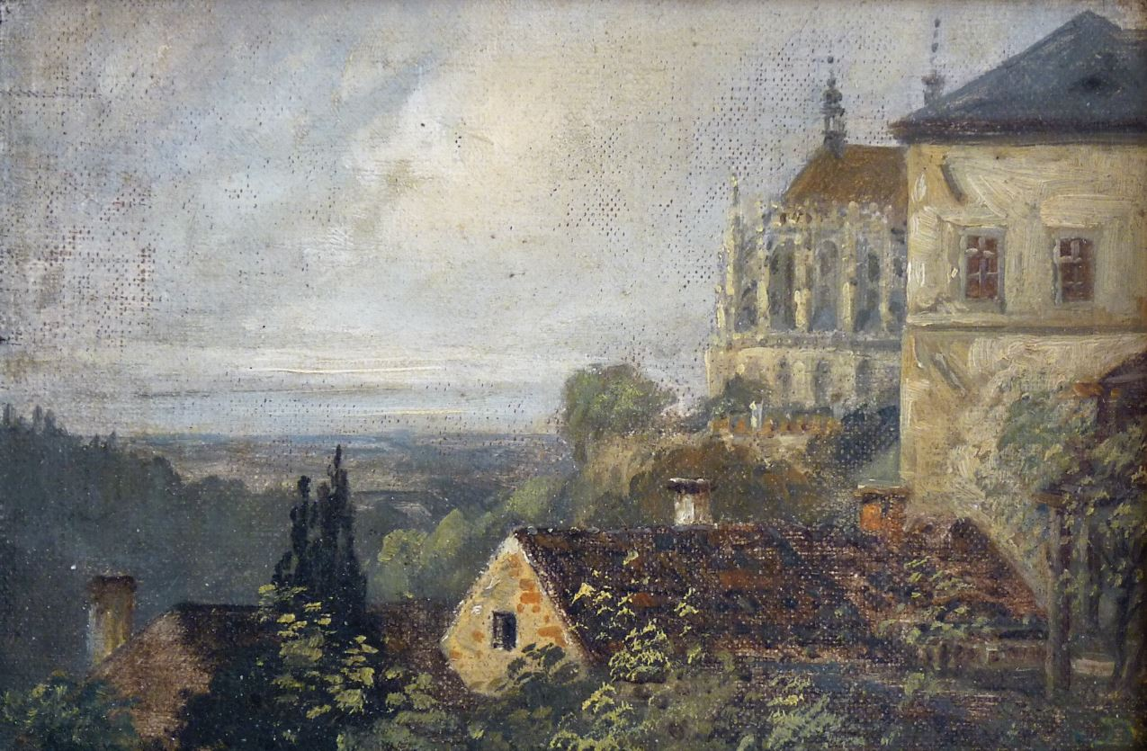 Výhled na chrám Sv. Barbory
