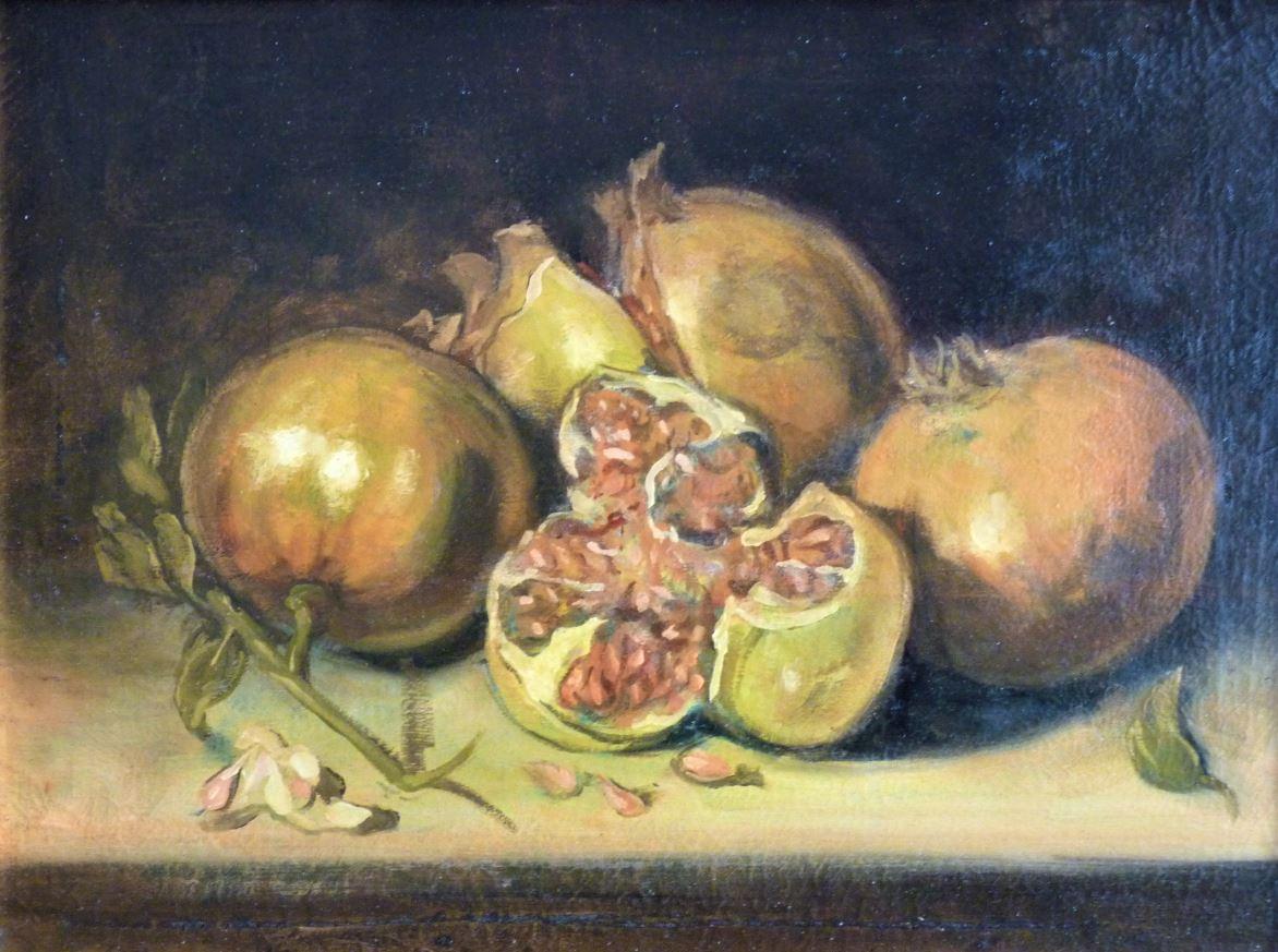 Zátiší s granátovými jablky